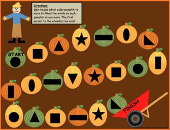 Pumpkin Gameboard--Editable!