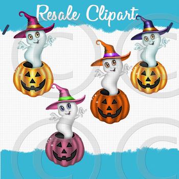 Pumpkin Ghost Clipart