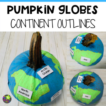 Pumpkin Globes Continent Outlines