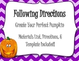 Following Directions- Pumpkin Glyph