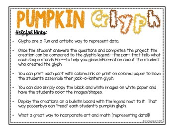 Pumpkin Glyph Craftivity