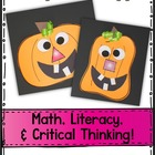Pumpkin Glyph Math and Literacy Fun