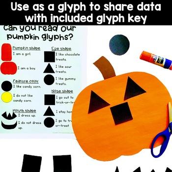 Pumpkin Shape Craft and Glyph Activity