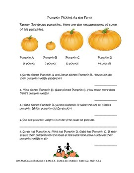 Pumpkin Math Activities: Glyphs, Graphing, and More!