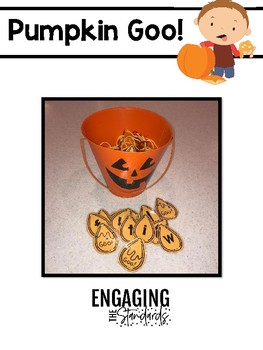 Pumpkin Goo!  Editable Letter, Sound, Number Identification Game....and more!