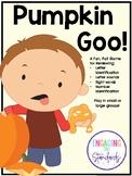 Pumpkin Goo!  Editable Letter, Sound, Number Identificatio