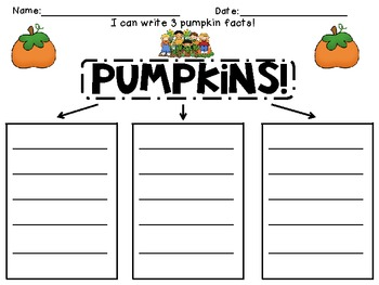 Pumpkin Graphic Organizer and Class Schema Chart