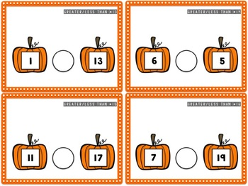 Pumpkin Greater Than / Less Than (0-20) {French & English}