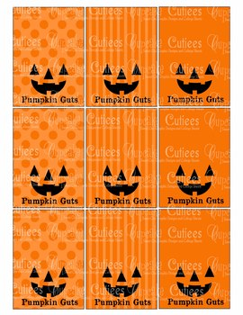 Pumpkin Guts Hand out Classroom Party Printable - Digital Fun Printable