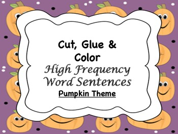 Pumpkin HFW Sentences