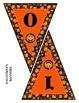 Pumpkin Halloween Banner / Pennant Set - Entire Alphabet & Numbers 0-9