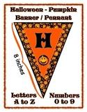 Pumpkin Halloween Banner / Pennant Set - Entire Alphabet &