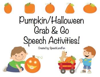 Pumpkin / Fall / Halloween Grab & Go Speech Activities (123 B&W Pages!)