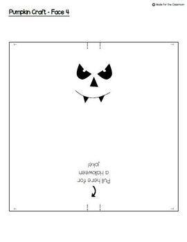 Pumpkin Halloween Jokes Craftivity