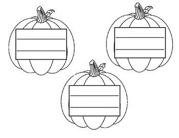 Pumpkin / Halloween Main Idea and Detail Response