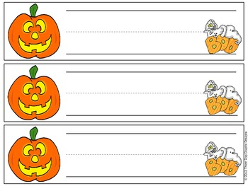 Pumpkin Halloween Desk Plates - Fun Graphics
