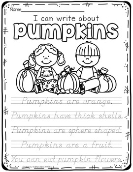Pumpkin: Handwriting Practice Pages