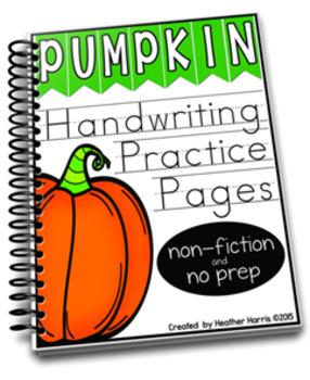 Pumpkin: Handwriting Practice Pages