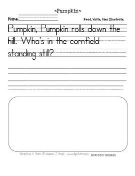 Pumpkin Handwriting Printable