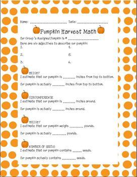 Pumpkin Harvest Math