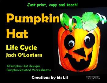 Pumpkin Hat  ::  Pumpkin  Life Cycle Hat  ::  Halloween Jack O' Lantern Hat