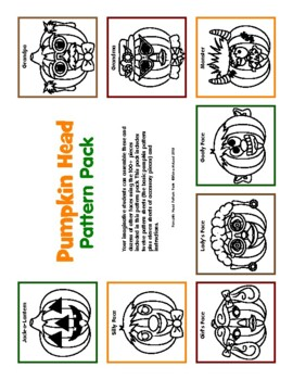 Pumpkin Head Fun Fall Activity Pattern Pack