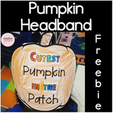Pumpkin Headband Freebie for fall or Halloween