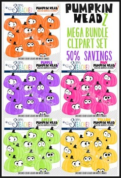 Pumpkin Headz Mega Savings Bundle Clipart Set