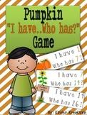 Kindergarten Number Identification Game - Pumpkins