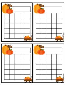 Pumpkin Incentive Reward Charts