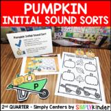 Pumpkin Initial Sound Sort - Kindergarten Center - Simply Centers