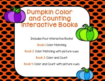 Pumpkin Interactive Color and Counting Book