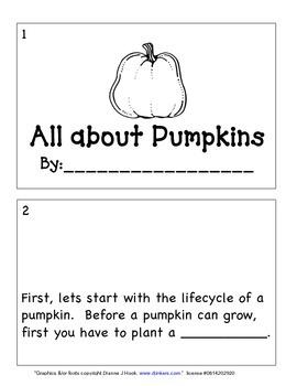 Pumpkin Interactive book/ Pumpkin Lifecycle