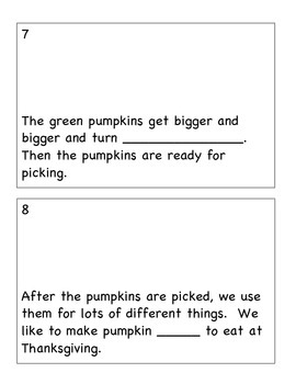Pumpkin Interactive book/ Pumpkin Lifecycle