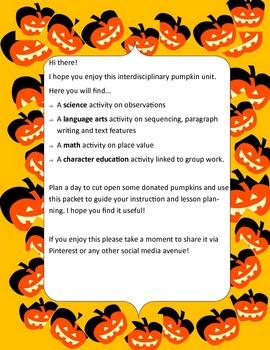 Pumpkin Interdiciplinary Packet