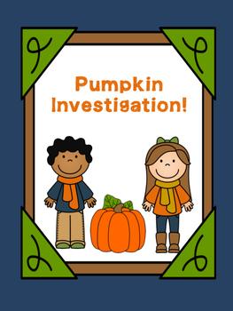 Pumpkin Investigation Activities