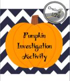 Pumpkin Investigation Activity
