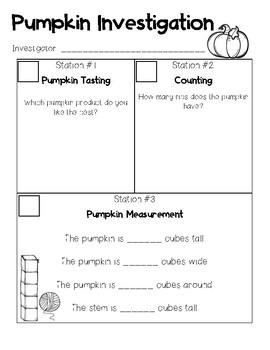 Pumpkin Investigation Centers
