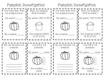 Pumpkin Investigation Experiment