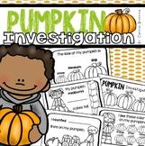 Pumpkin Investigation Math Science Mini Book Activity