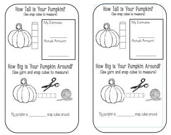 Pumpkin Investigation (Measurement) Booklet