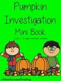 Pumpkin Investigation Mini Book