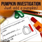 Pumpkin Investigation: Science and Math Mini-Book