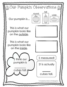 Pumpkin Investigation Outline - Fall/Halloween Science Activity