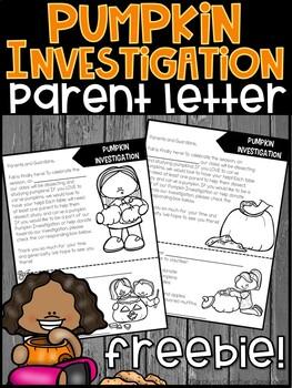 Pumpkin Investigation Parent Letter