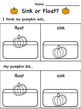 Pumpkin Investigation Sheets