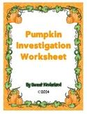 Pumpkin Investigation Worksheet