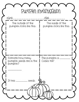 Pumpkin Investigation and More