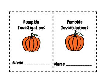 Pumpkin Investigations booklet Level 1