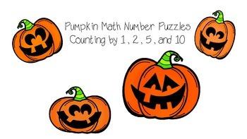 Pumpkin / Jack-O-Lantern Number Order Puzzle - Count by 1,